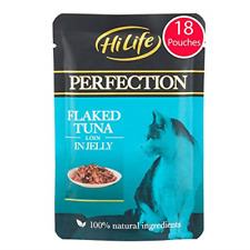 More details for hilife perfection - wet cat food - flaked tuna loin in jelly - natural grain 18