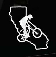 Mountain Bike Rampage Downhill Trail Send Car Van SUV Truck Vinyl Decal Sticker