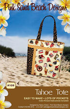 "TAHOE TOTE Pink Sand Beach Purse Bag Handbag Sewing Pattern ~ 15.5"" x 12.5"""