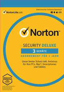 NORTON (Internet) SECURITY DELUXE (2021) 3-Geräte / 1-Jahr PC/Mac/Android / KEY