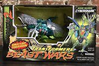 Transformers Beast Wars Transmetals 2 Cybershark Figure Mega Class New In Box