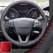 Steering Wheel Cover DIY Sewing Leather Wrap for Ford Focus 15 16 17 2018 Escape