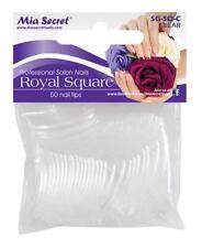 Mia Secret Clear Royal Square 50 Piece Size 8 Salon Nail Tips Manicure Art