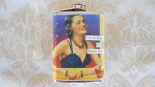 """ANNE TAINTOR STAINLESS STEELFLASK   """" I'M SO HAPPY IT'S HAPPY HOUR """""""