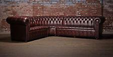 Chesterfield Ledersofa Ecksofa Sofa Polster Eck Sitz Garnitur Corner Couch Neu