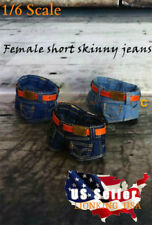 1/6 Scale Denim Jeans Shorts with Belt C For TBLeague PHICEN Female Figure ❶USA❶