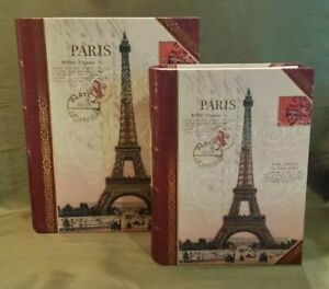 Punch Studio Paris Eiffel Tower Book Boxes Set of 2 - Large & Medium