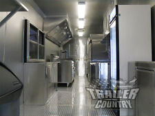 New 85x30 85 X 30 V Nosed Enclosed Concession Food Vending Bbq Trailer