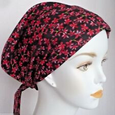 Red Flowers Scarf Cancer Hat Turban Chemo Hair Headwrap Bad Hair Day Alopecia
