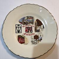 Vintage Underground Atlanta Souvenir Plate Georgia