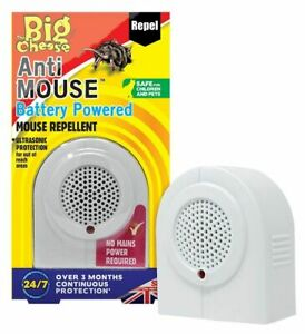Ultrasonic Battery Operated Mouse Repellent Pest Control Mice Rat Protect Rodent