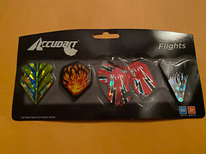 Accudart Assorted Hologram Dart Flight Game Board Accessory Replacement New