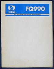 Luxman fq990 ORIGINAL AM/FM Stereo Receiver service-manual/Diagram/schéma de branchement