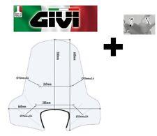 Parabrezza COMPLETO trasparente PEUGEOT Belville RS 125-200 2017 2018  GIVI