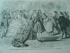 Gravure 1861 - Costumes historiques pour les bals déguisés de ce carnaval