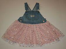 New OshKosh 2T Girls Jumper Dress Overalls Soft Tulle...
