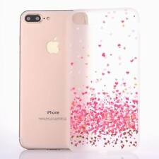 For iPhone X 8 5 6s 7 Plus Clear Cute Patterned Soft Rubber Silicone Case Cover