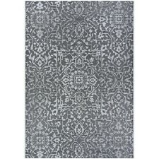 """Couristan Palmette Black-Grey-Ivory In-Out Rug, 5'10"""" x 9'2"""" - 23293108510092T"""