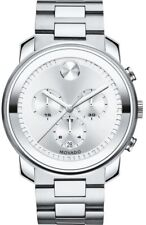 New Movado Bold 3600276 Chronograph Silver Stainless Steel Men's Watch