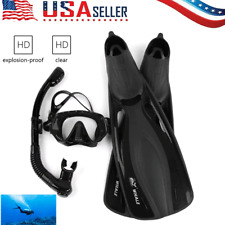 Whale Swimming Snorkeling Fin Foot Flippers DivingMask Snorkel Fins Scuba Set