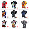 Mens Short Sleeve Jersey Tops Outdoor Sports Bike Cycling Bicycle Wear Plus Size
