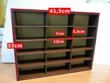Etagere Colección de Madera Nueva en Caja : 15 Compartimentos 43CM 32CM Coches