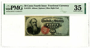 U.S. Fractional Currency. Fourth Issue, FR#1376. 50 Cents PMG Choice VF 35
