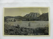 postcard Postkarte Dutch Indies Indonesia mountains Grand Hotel Brastagi unused