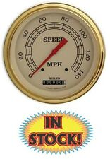 "Classic Instruments Vintage Series 5"" 140 MPH Speedometer VT56GLC"