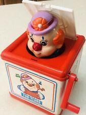 Vintage 1988 Clown Jack In The Box by Meritus Industries (Lid Doesn't Close)