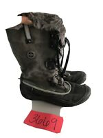 JSport Women Windham Jambu Black  Winter w/Grey  Faux Fur Upr Boots Size 8M