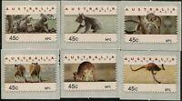 Australia CPS Kangaroos and Koalas NPC 1993 diecut set MNH