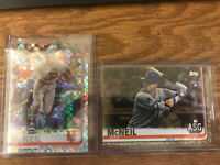 LOT 2019 Topps Chrome Jeff McNeil Prizm Refractor #152 And Update ASG Gold /2019
