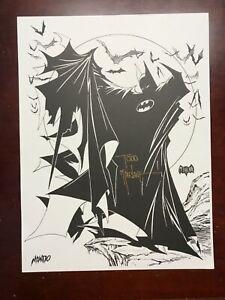 Signed TODD MCFARLANE Mondo BATMAN Art Print Litho 2019 SDCC DC exclusive spawn