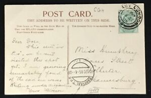 SOUTH AFRICA- CAPE OF GOOD HOPE -TRANSVAAL 1905 PPC PM TRANSVAAL T.P.O. RAILWAY