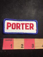 Vintage PORTER Uniform Tab Patch C91M