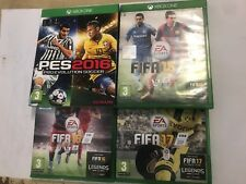 4 XBOX ONE SOCCER FOOTBALL GAMES FIFA 15 2015 + 16 2016 + 17 2017 + PRO EVO 2016