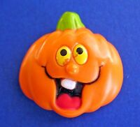 Russ PIN Halloween Vintage PUMPKIN Funny Face JOL Holiday Brooch A1