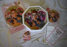 """NEW HAMILTON COLLECTION PLATE I LOVE LUCY  """"L A. AT LAST"""" #1647B & ASSORTED DOC"""
