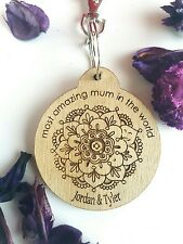 Personalised keyrings for mum mothers day