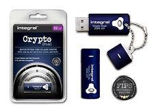 CRYPTÉ 32GB CLÉ USB avec 256 BIT militaire sécurité infd32gcryptodl197