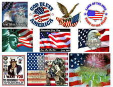 PATRIOTIC  PHOTO-FRIDGE MAGNETS    10 IMAGES