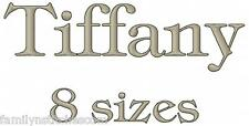 Tiff's Font 82 Machine Embroidery Designs on CD in 8 sizes for 657 files