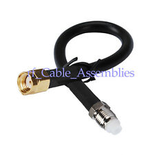 "20"" FME female to RP-SMA Plug male pigtail Cable RG58 50cm for Wireless Antenna"
