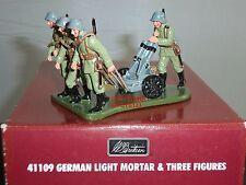 BRITAINS 41109 GERMAN LIGHT MORTAR GUN + CREW WW1 METAL TOY SOLDIER FIGURE SET