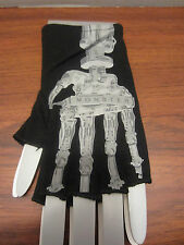 FINGERLESS GLOVES ROBOT WITH THE WORD  MONSTER  ON IT FROM HOT TOPIC GOTHIC PUNK