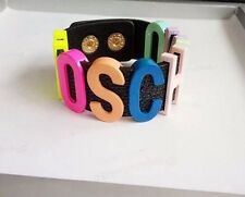 COLOURFUL STATEMENT BRACELET Fashion Jewellery Snap Popper Fasten Moschino