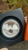 Australia 2013 Treasures of the World Europe 1oz Silver Proof Locket Coin Garnet