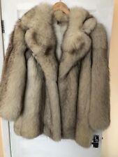Authentic Silver Fox fur coat. Excellent condition. size 10-12