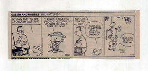 Calvin and Hobbes by Bill Watterson - rare FIRST comic strip - November 18, 1985